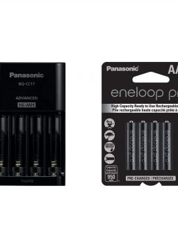 Panasonic Battery Charger with 4 LED Charge Indicator