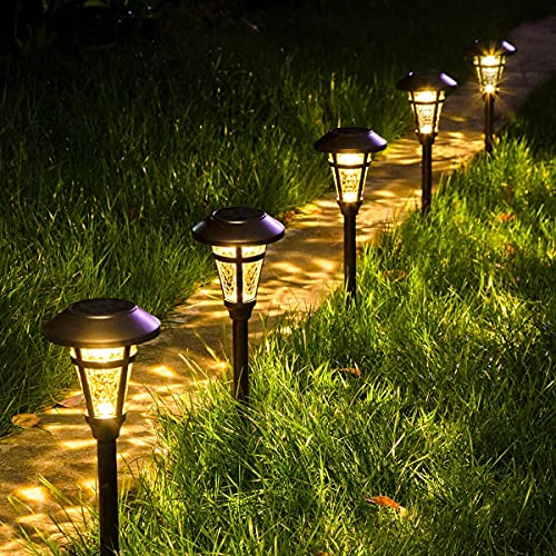 Solpex Solar Pathway Lights Outdoor,6 Pack