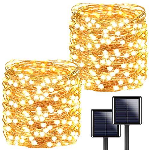 2-Pack Each 72ft 200LED Solar String Lights Outdoor
