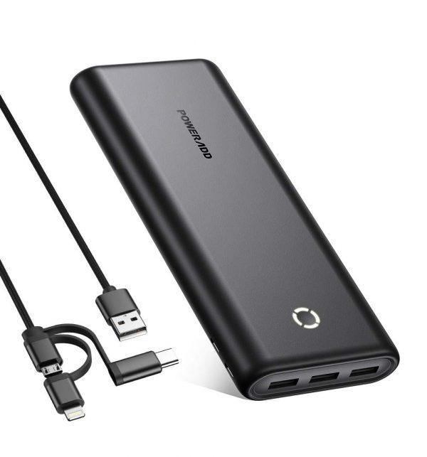 High-Speed 26800mAh Portable Power Bank 3 USB Outputs
