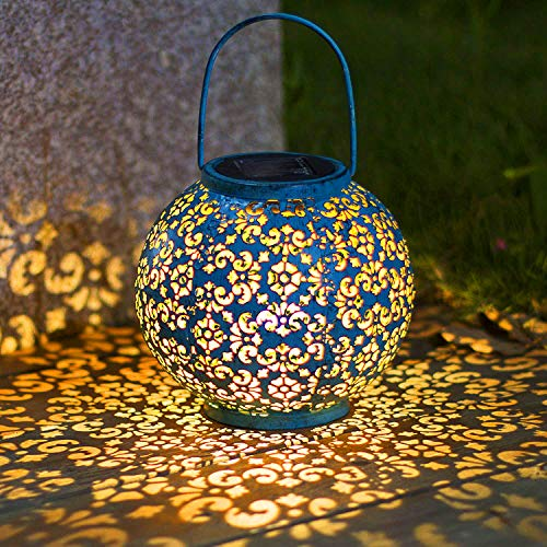 Solar Big Lantern Hanging Garden Outdoor Lights