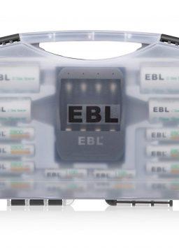 EBL Black Batteries Box Include