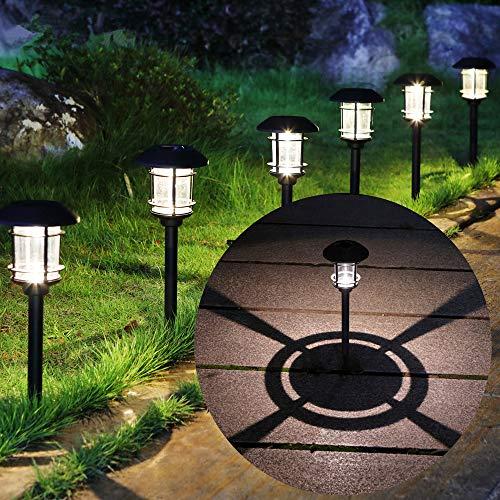 MAGGIFT 6 Lumen Solar Powered Pathway Lights