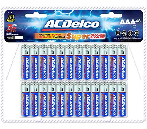 ACDelco 48-Count AAA Batteries, Maximum Power Super Alkaline Battery