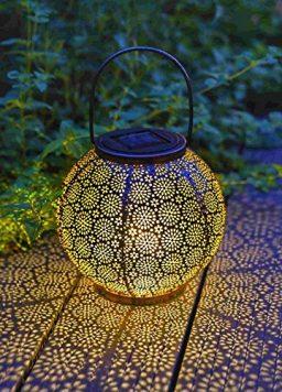 2 Pack Solar Lanterns Outdoor Hanging Lights Decorative