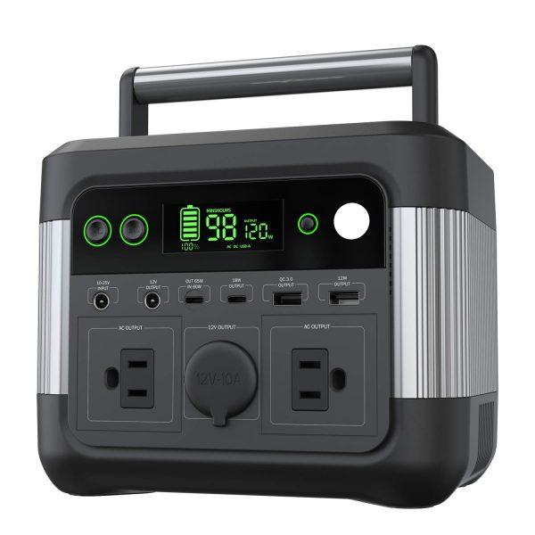 Solar Generator Backup Portable Power Station 300W