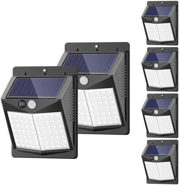 SEZAC Motion Sensor Security Lights Solar