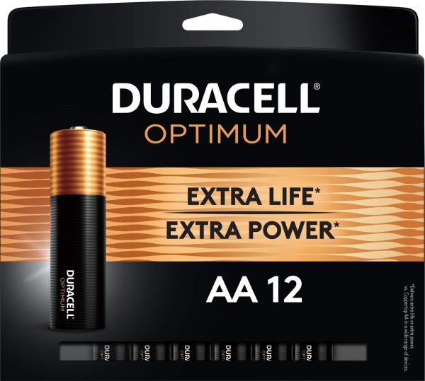 Duracell Optimum AA Batteries Resealable Package For Storage