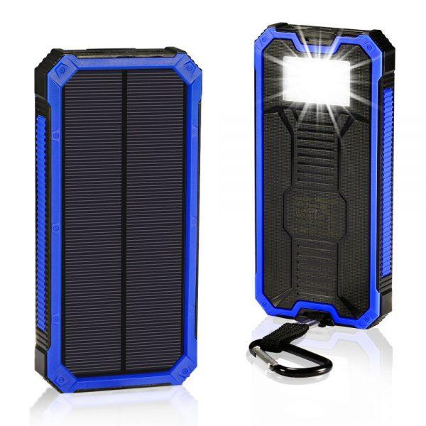 Solar Charger 30,000mAh, Solarprous Portable Dual USB