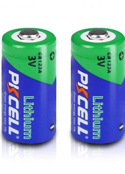 3V CR123A 123A 1500mah Lithium Batteries 2Pcs