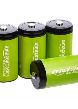Amazon Basics 4-Pack D Cell Rechargeable Batteries