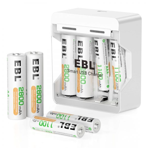 EBL Charger and Batteries - AA Batteries 2800mAh