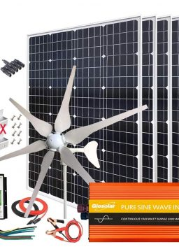 1000W Solar, Wind Power Kits Home Off-Grid System for Charging