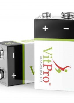 VitPro 4 Pack 9 Volt Performance All-Purpose Alkaline Batteries