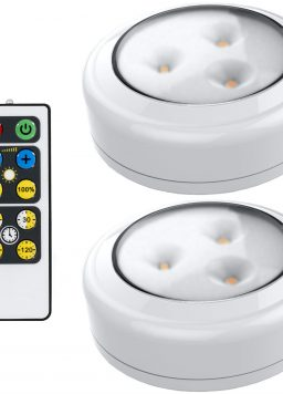 LED Puck Light 2 Pack with Remote Battery Operated Lights