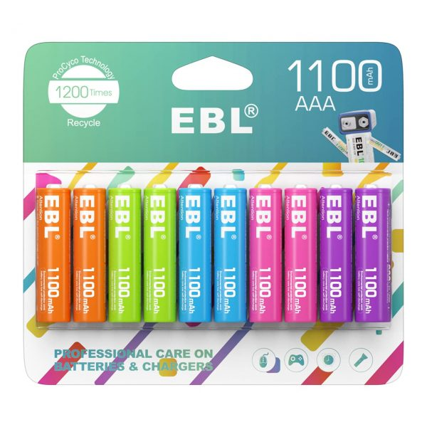 EBL Rechargeable AAA Batteries 1.2V NiMH Pre-Charged