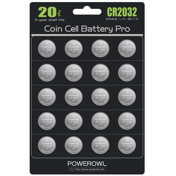 High Capacity CR2032 Battery 10 Years Leak-Free