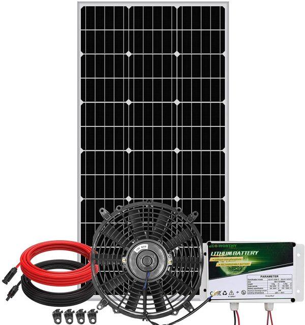 ECO-WORTHY 12 inch Solar Attic Fan +100W Solar Panel