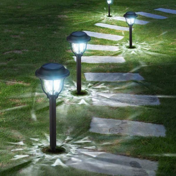 10 Pack Solar Lights Outdoor, Bright Solar Garden Outdoor Lights