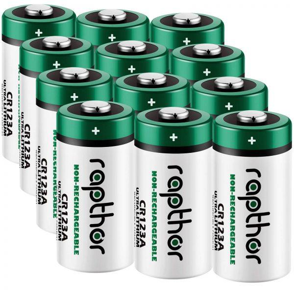 Rapthor CR123A Batteries 3V High Power