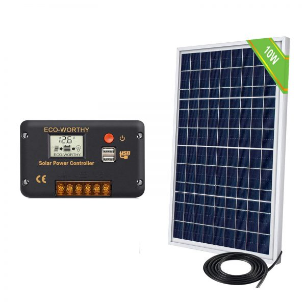 ECO-WORTHY 12V 10W Solar Panel