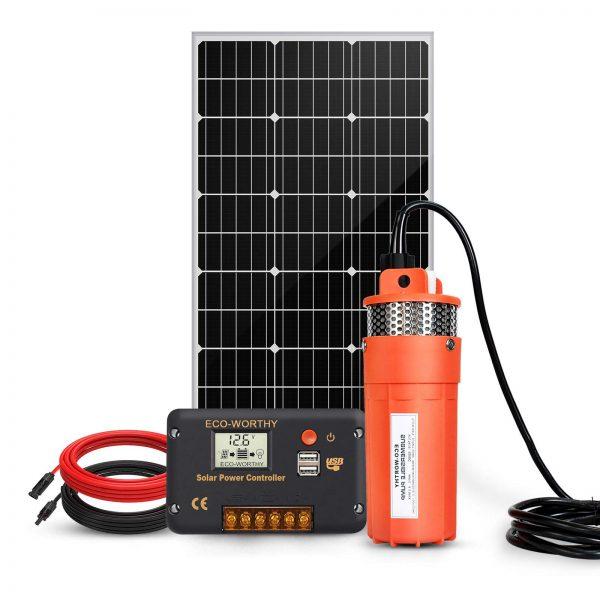 ECO-WORTHY Solar Well Pump System - 100W Solar Panel