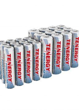 12xAA and 12xAAA Rechargeable Batteries Tenergy Premium