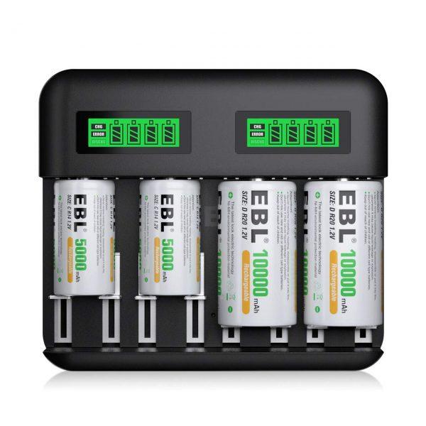 AA AAA C D Rechargeable Batteries USB Port Type C