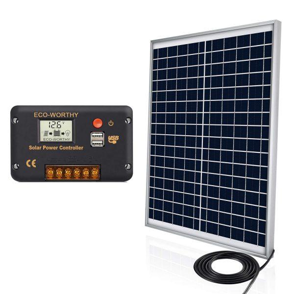 ECO-WORTHY 12V 25W Solar Panel