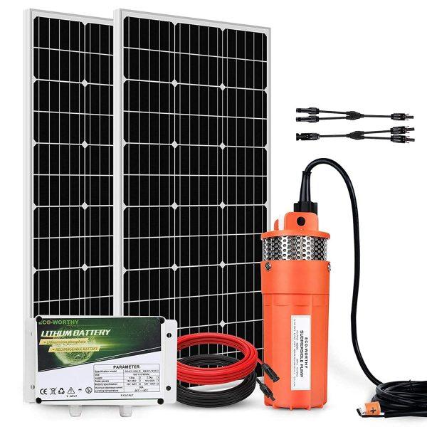 ECO-WORTHY Complete Solar Pump Kit - 200W Solar Panel