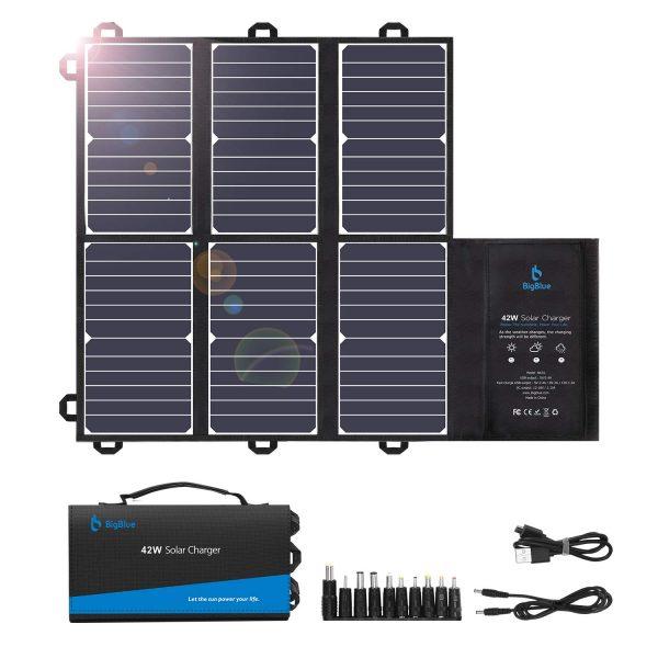 BigBlue Portable Solar Charger (2 USB+DC Outputs)