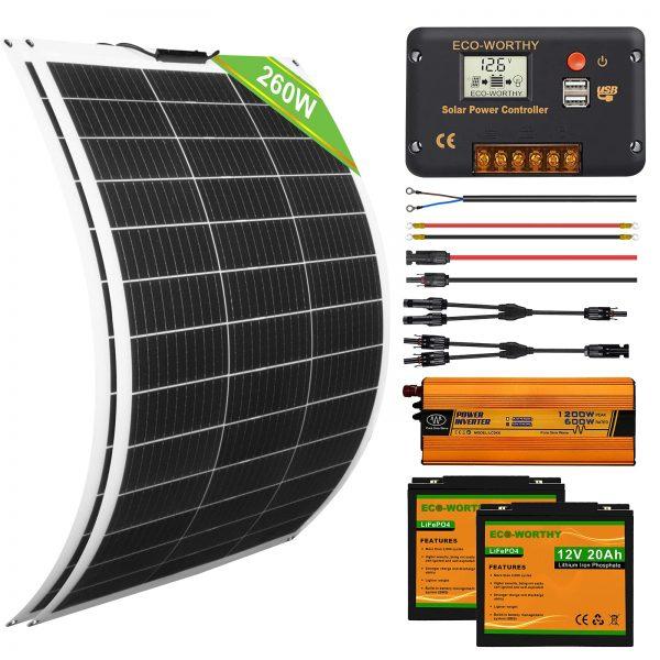 ECO-WORTHY 260W Panel Kit for RV Off Grid Solar Panel Kit