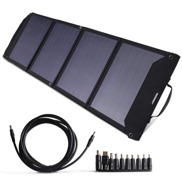 Tenergy Foldable 60W Solar Panel Charger