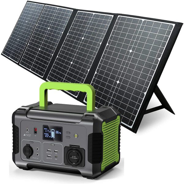 Portable Power Station with Solar Panel Included