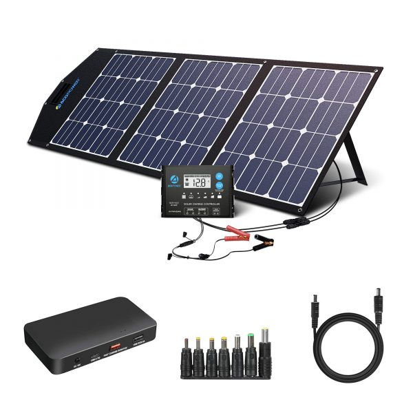 ACOPOWER 120w 12v Portable Solar Panel