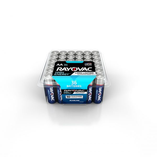RAYOVAC Alkaline Batteries with Recloseable Lid