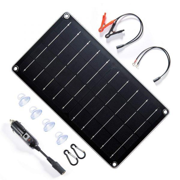 Topsolar 10 Watt 12 Volt Solar Panel Battery Charger