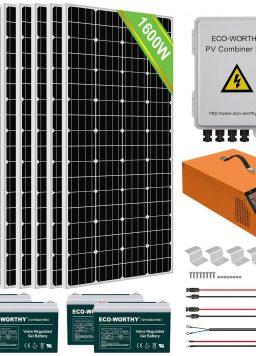 ECO-WORTHY 1600W 24V Complete Solar Power System Kit
