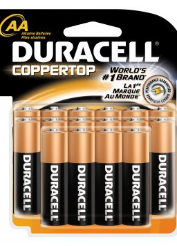 Duracell Batteries, AA Size, 16-Count Packages