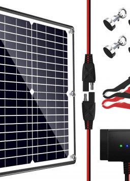 POWOXI Solar Panel, 12V 20W Magnetic Solar Battery Charger Maintainer