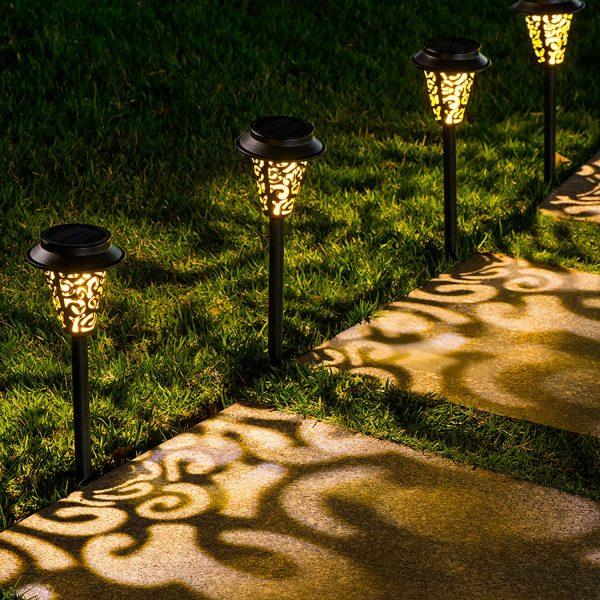 LeiDrail 6 Pack Solar Pathway Lights Outdoor