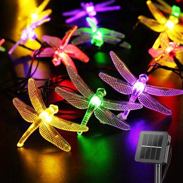 Dragonfly Solar String Lights Outdoor 20.8 Feet 30 Led