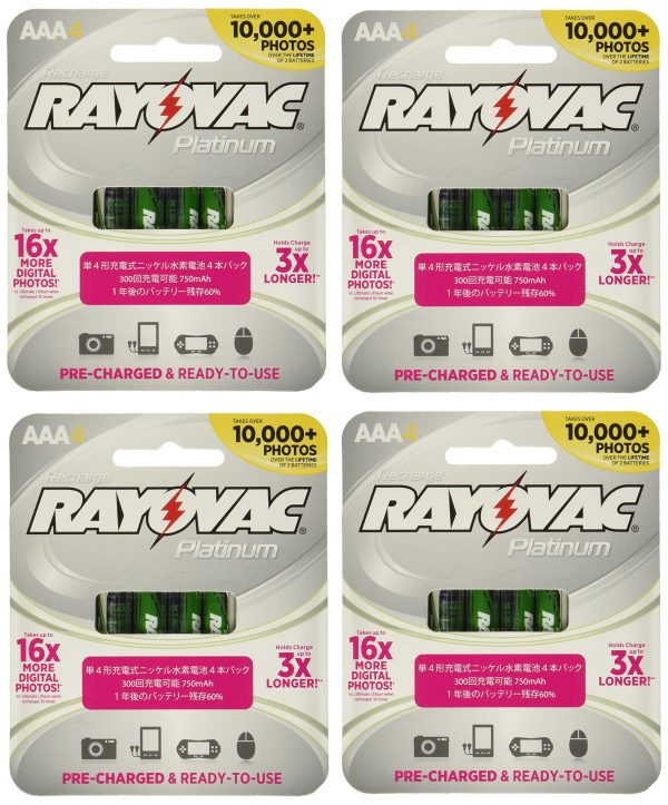 Rayovac 16 x Platinum pre-Charged (New Hybrid Replacement)