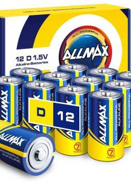 Allmax D Maximum Power Alkaline Batteries