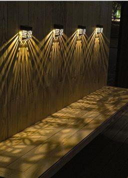Fence LED Solar Powered For Garden Yard Step Deck Stair Lighting