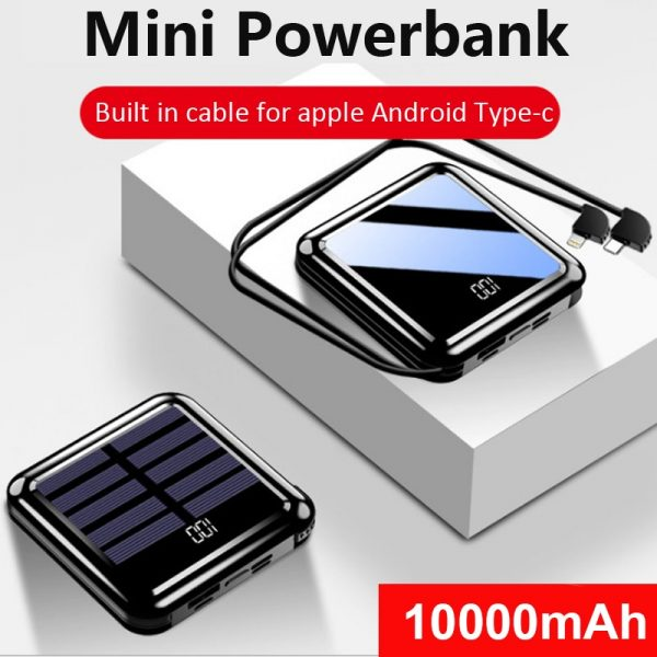 Fast Charger Mini Solar Power Bank Portable