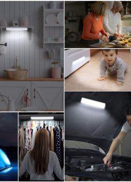 Light LED PIR Motion Sensor Lamp Wireless Batteries Powered