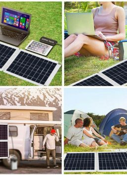 Foldable 60W Solar Panel 4-stage PWM Charge Management