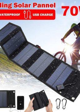 Smartphone 70W Foldable USB Solar Panel Mobile