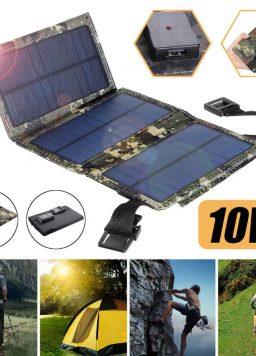 Solar Panel Folding Charger Mobile Power Bank